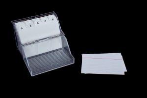 index card box 2288588 1280 300x199 - Ini Dia 16 Trik Ampuh Cara Belajar yang Efektif, Efisien dan Menyenangkan