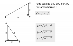 rumus pythagoras 300x188 - Rumus Pythagoras (Pitagoras) dan Contoh Soal
