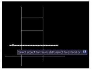 7 300x227 - Memotong Garis Berpotongan (Trim) di AUTOCAD