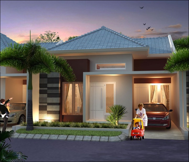 desain rumah minimalis type 45 dengan garasi 12 1 - Desain Rumah Minimalis Type 45 Dengan Suasana Rumah Lebih Tenang dan Menyenangkan