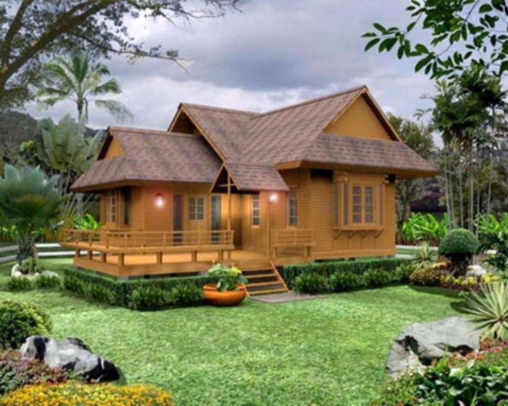 desain rumah pedesaan unsur alami mewah 1 - Perpaduan Desain Rumah Pedesaan Yang Tradisional Namun Eksotis