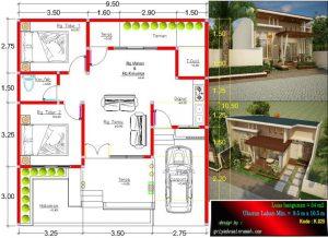gambar-denah-rumah-1-lantai-type-54-ukuran-lahan-9.5x-10.5