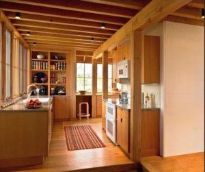 Model Rumah Kayu Interior Dapur 300x251 1 - 5 Tips Merancang Desain Rumah Ala Korea yang Modern