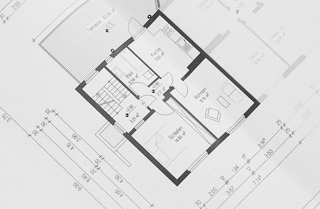 building plan 354233 640 1 - 3 Langkah Tepat Membuat Desain Rumah Type 45 Agar Sesuai Impian