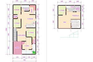 denah dan gambar rumah ukuran 7x10 desain rumah minimalis