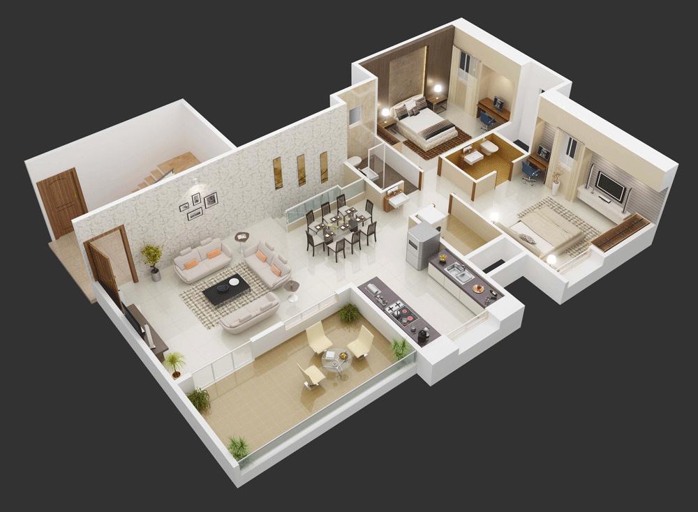 home designing 1 1 - Contoh Desain Rumah Kamar 3 dan Mushola 1