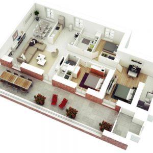 pinterest 3 1 300x300 - Contoh Desain Rumah Kamar 3 dan Mushola 1
