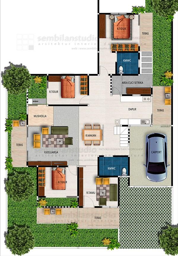 pinterest 1 1 - Contoh Desain Rumah Kamar 3 dan Mushola 1