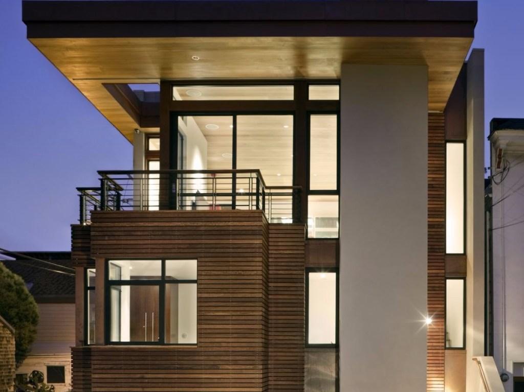 Desain Rumah 2 Lantai Minimalis Atap Rata 1 - Ide Desain Kreatif dan Contoh Tampak Depan Rumah Minimalis 2 Lantai
