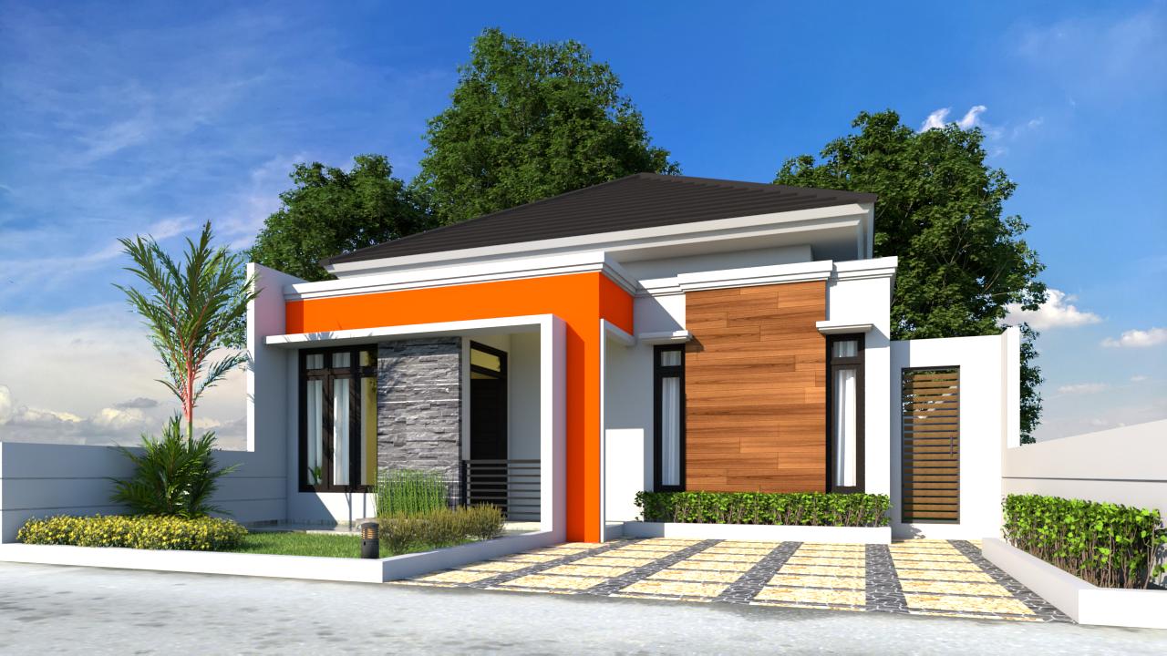 09 Desain Rumah Minimalis 85 X 16 m2 - Desain Rumah Minimalis 1 Lantai