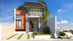 kumpulan projek desain rumah minimalis 2 lantai - guru sipil