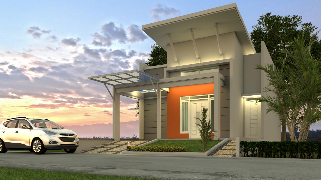 2 - Desain Rumah Minimalis 1 Lantai