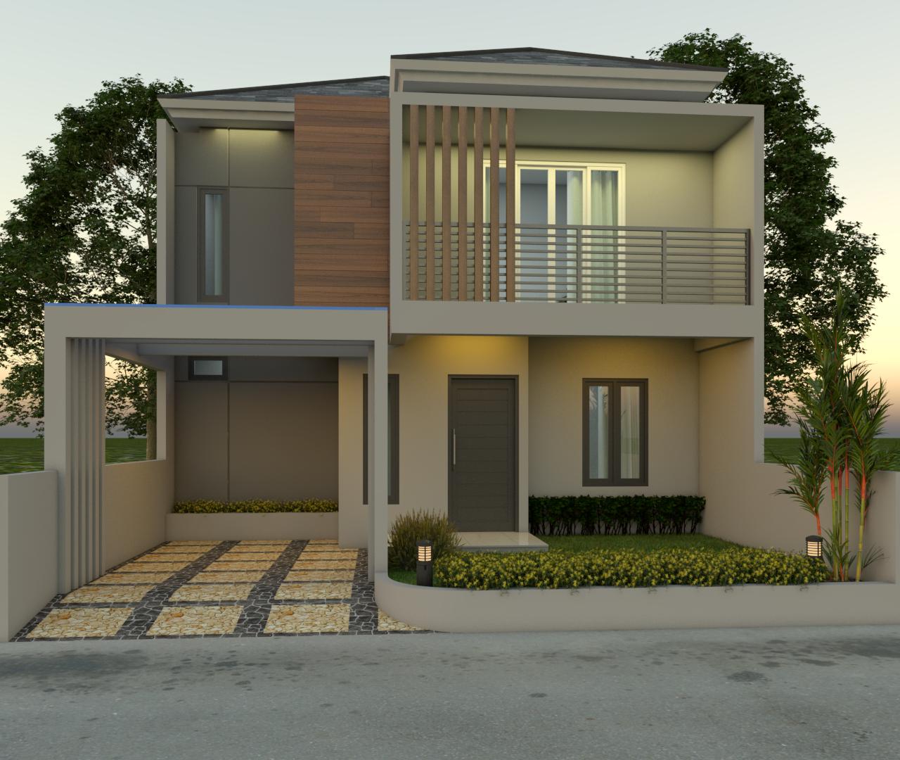 3 - Desain Rumah Minimalis 2 Lantai
