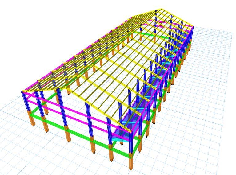 3D Etabs - Projek Hitung Struktur Gedung Beladiri Baja