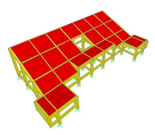 Tampak 3 D - Projek Hitung Struktur Stadion 2