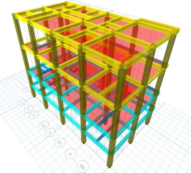 Tampak 3d - Projek Hitung Struktur RUKO