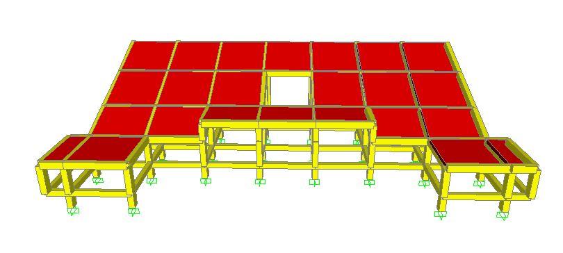 Tampak Depan - Projek Hitung Struktur Stadion 2