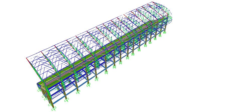 gambar space frame - Projek Hitung Struktur Stadion 1