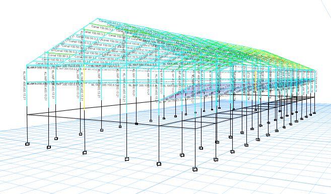 ok 2 - Projek Hitung Struktur Gedung Beladiri Baja